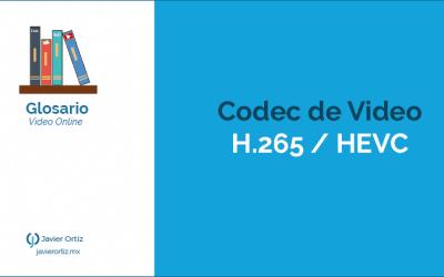 Codec de video estándar H.265/HEVC