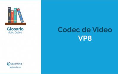 Codec de compresión de video VP8 para WebM