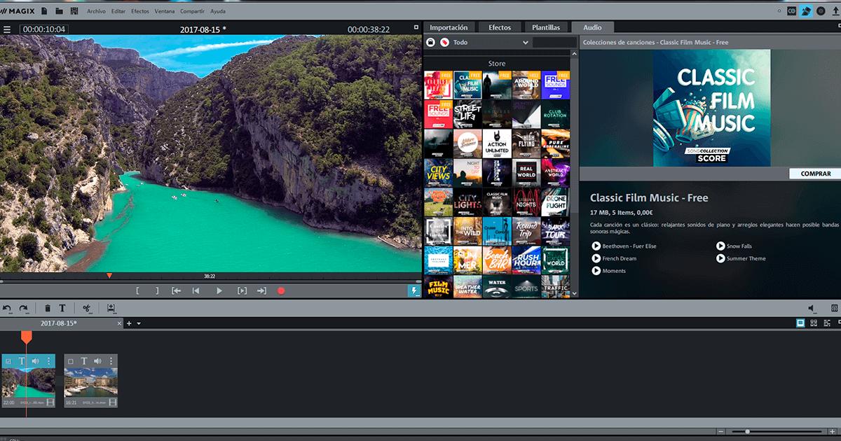 Programa de edición de video Magix Video deluxe