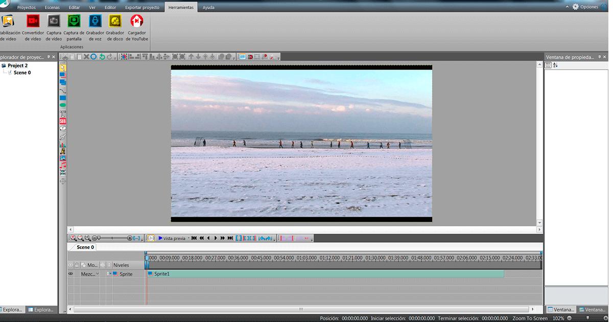 Programa de edición de video VSDC Video Editor