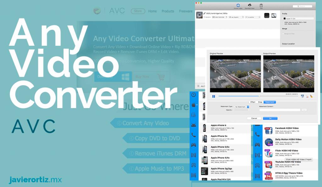 conversor de video any video converter