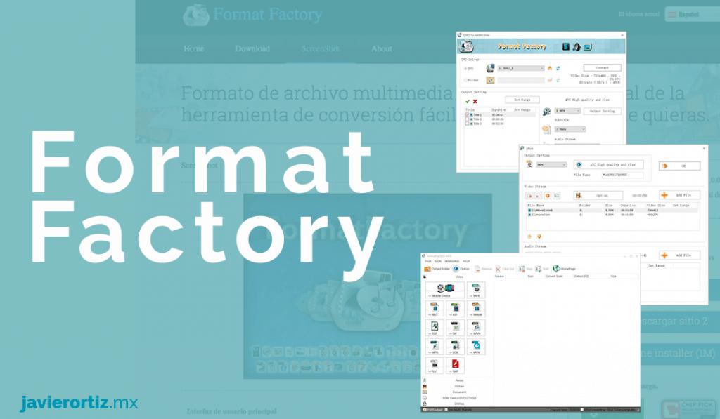 conversor de video format factory
