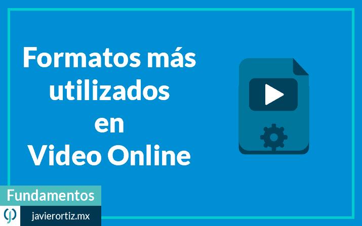 Formato de video – los más utilizados en video online