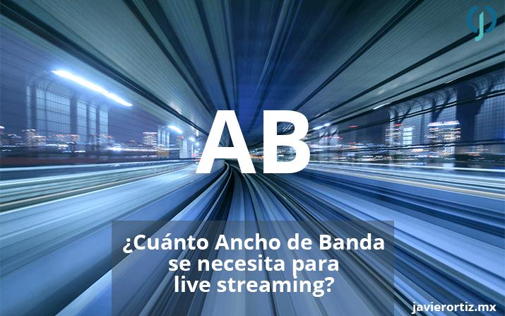 ¿Cuánto ancho de banda se necesita para live streaming?
