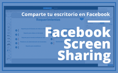 Comparte tu escritorio con Facebook screen sharing