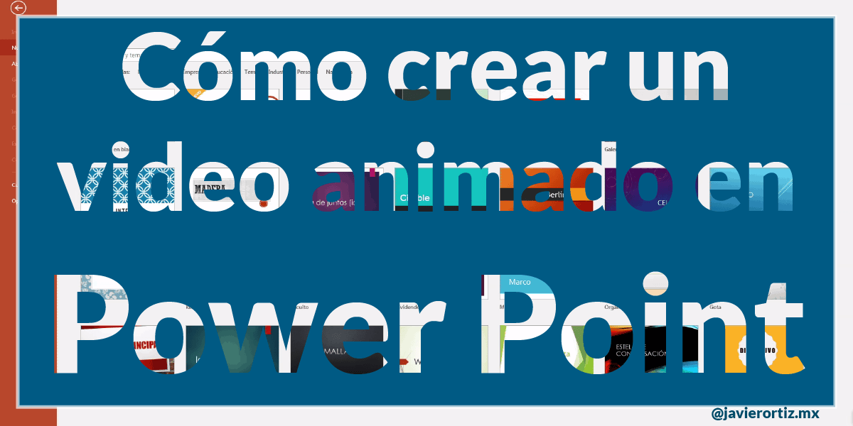 Como Crear Un Video Para Facebook En Power Point 2016 Javier Ortiz