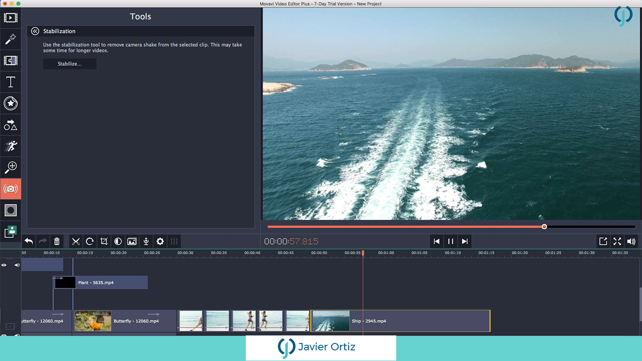 Editor de video Movavi 5 plus