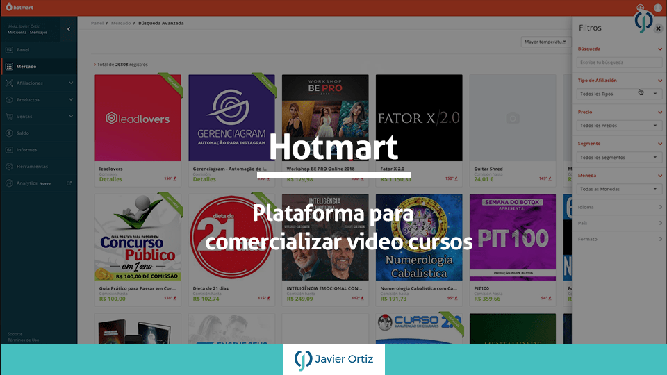 Hotmart plataforma para cursos en línea