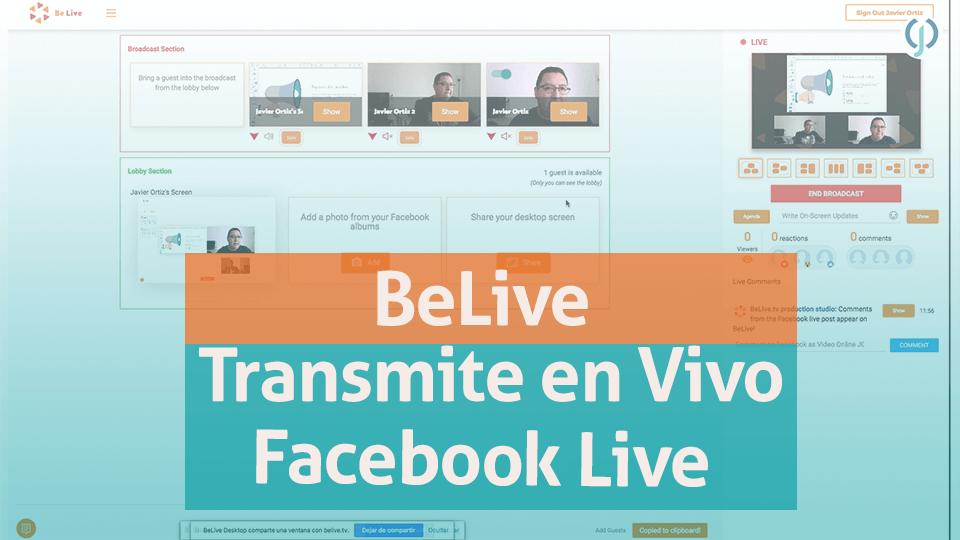 Belive transmite Facebook Live
