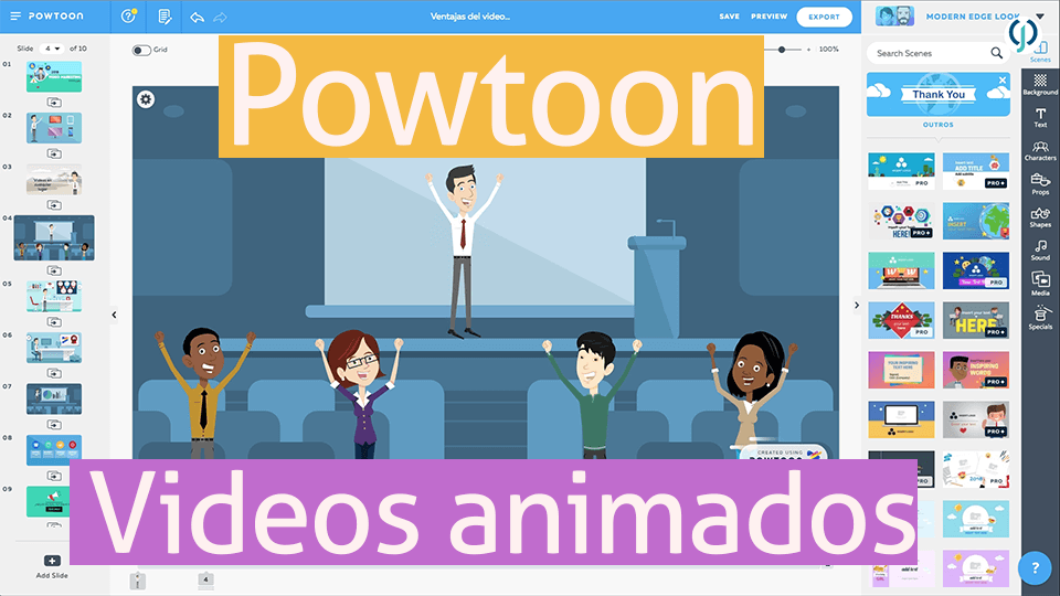 ▷ Powtoon | videos y presentaciones animadas + tutorial