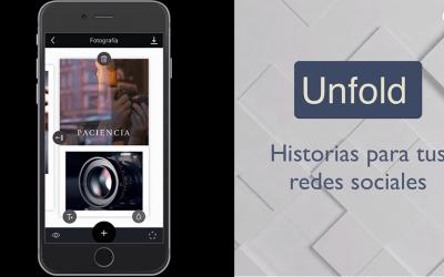 Unfold App | Crea historias para Instagram y Facebook