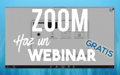 Zoom | Comienza a crear webinars gratis