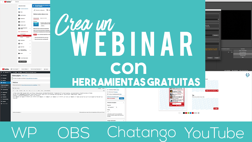 Webinar WP OBS Chatango YouTube
