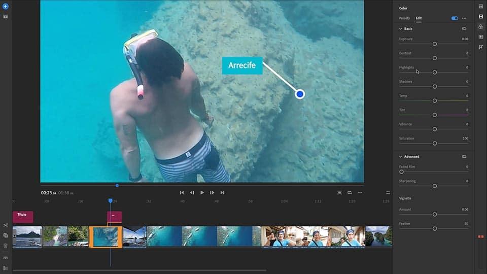 Adobe Premiere Rush Color