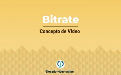 ¿Qué es el bitrate o tasa de bits de un video?