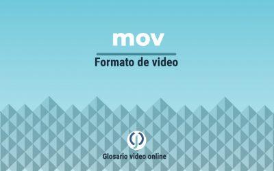 Formato de video mov o archivo de Apple .mov