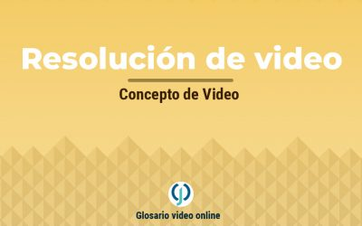 Resolución de video para publicar videos en internet.