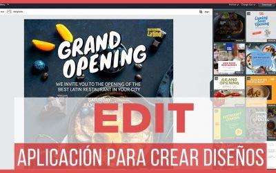 Edit.org crea diseños profesionales | Editor de imágenes