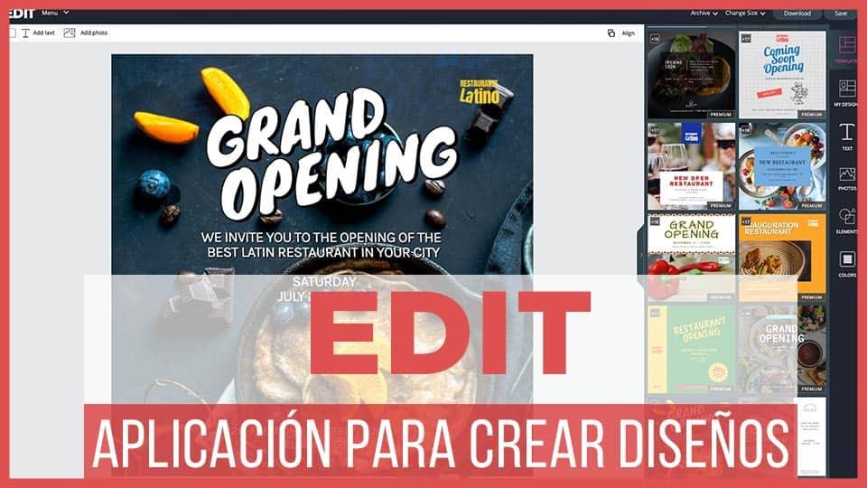 Edit-aplicación para editar imágenes online