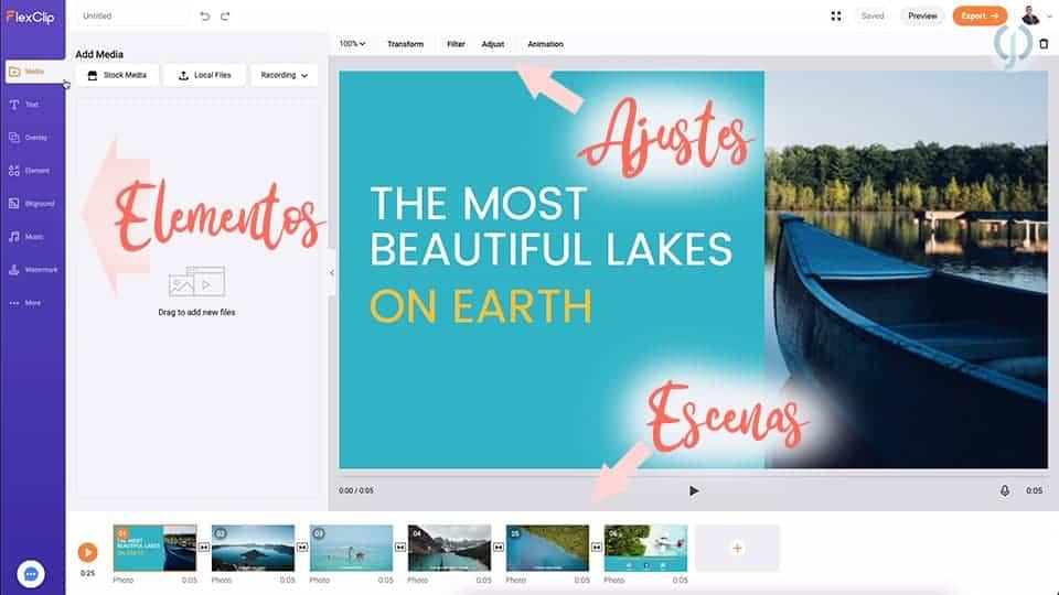 FlexClip – Plataforma para crear videos para redes sociales